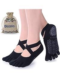 Ozaiic Calcetines Yoga Pilates Antideslizante Deporte Mujeres Pueden  Utilizar para Yoga 118a2dd8a335