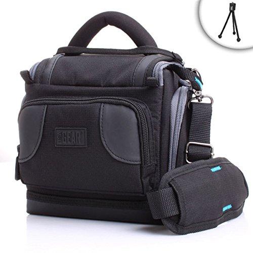 Funda Bolsa Protectora para Cámara Reflex y Cámaras DSLR por USA GEAR como Nikon D3300 D750 D5300 D5500 Canon EOS 750D 700D 1300D 1200D 6D y para Accesorios, Cargadores, Tarjetas de Memoria, y mucho más