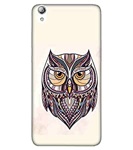 OWL, Black, Flying OWL, Dashing Pattern, Printed Designer Back Case Cover for Lenovo S850