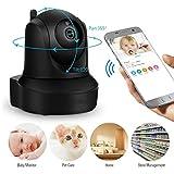 YA Caméra de Surveillance sans Fil IP 1080p Caméra de vidéosurveillance CCTV Caméra de Surveillance WiFi Moniteur pour bébé Vision Nocturne à Domicile, avec Stockage en Nuage Siren Inclus