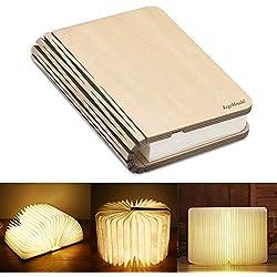 Lámpara de Libro Plegable Recargable USB Luz con Batería de Litio