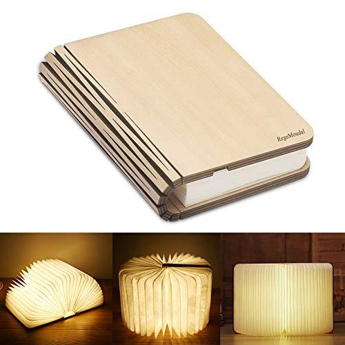 RegeMoudal LED Buch Licht Faltbare Buchlampe LED Stimmungsbeleuchtung USB aufladbare Schreibtisch Buch Licht Nachtlicht Nachttischlampe für Kinder Freundin Eltern Geschenk Home Decor