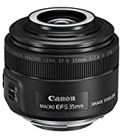 Canon EF-S 35 mm f/2.8 Macro IS STM Camera Lens - Black
