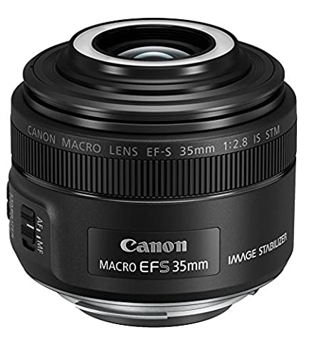 Canon EF-S 35mm 1:2,8 IS Makro STM Objektiv (49 mm Filtergewinde) schwarz (Objektiv Is)