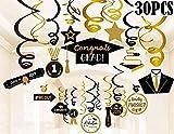 Bdecoll 30Pcs Graduation Hanging Swirl Decorations/graduación decoración colgante/infantil decoraciones de fiesta de graduación universitaria Suministros