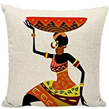 New pants Colourful Pillow Covers Cotton Linen Square Africa Ethnic Throw Pillow Case Decorative Cushion Cover