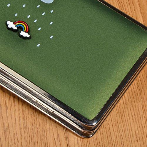 Bonice Diamante Corona borsa del portafoglio da donna con la chiusura lampo in pelle PU multifunzione [Grande capacità] Card Slots Case Cover per iPhone 8/8 Plus/iPhone X, iPhone7/7 Plus/6S/6S Plus/6/ Stile Verticale Lungo 17