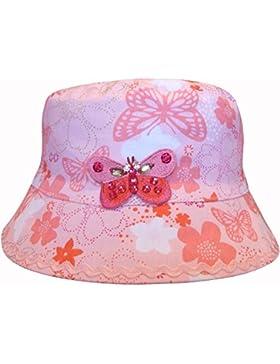 Diseño de chicas diseño mariposa rosa con forma de cubo diseño de playa gorro para el sol gorro de Summer