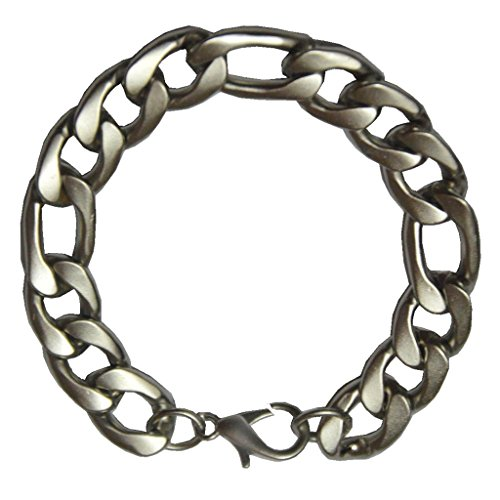 Men Style Best Selling Gents 15 mm Solid-Sterling-Silver-Flat-Curb-Chain-Super-Mens SBr09022 Silver stainless Steel Link Bracelet For Men And Women  available at amazon for Rs.319