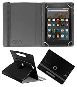 Acm Rotating Leather Flip Case for Kindle All New Fire Hd 8 Tablet Cover Stand Black