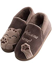 Minetom Primavera Inverno Caldo Coppie Uomo Donna Pantofole Morbido Peluche  Gatto Pantofole Comode e Calde Pantofole Scarpe Slip… 8abce0f9456