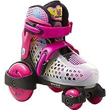 KRF Baby Quad - Patines extensibles para niña, color rosa