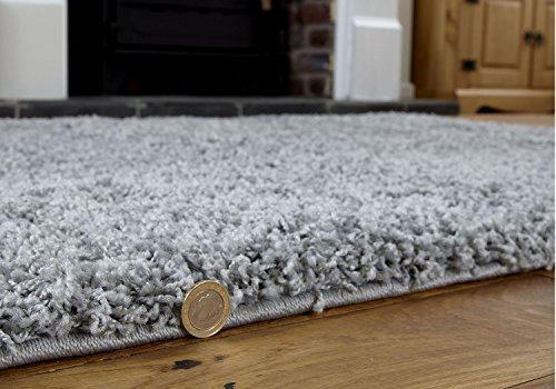 G&n argento grigio tappeto a pelo lungo soffice e spesso 120x 170cm per salotto, camera da letto, camera dei bambini