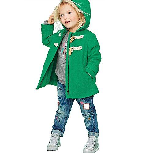 ZARU Chaquetas para niños Chaquetas para niños Chaquetas de invierno Chaquetas SnowSuit Desgastar (120, Verde)