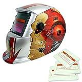 Energía Solar Oscurecimiento Automático Caretas para Soldar Casco de Soldadura Hombre Escudo de Soldadura Gafas Máscara-robot