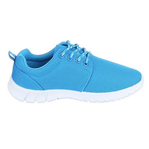 Ital-Design, M7–1, loisirs chaussures basses chaussures de sport Bleu - Bleu