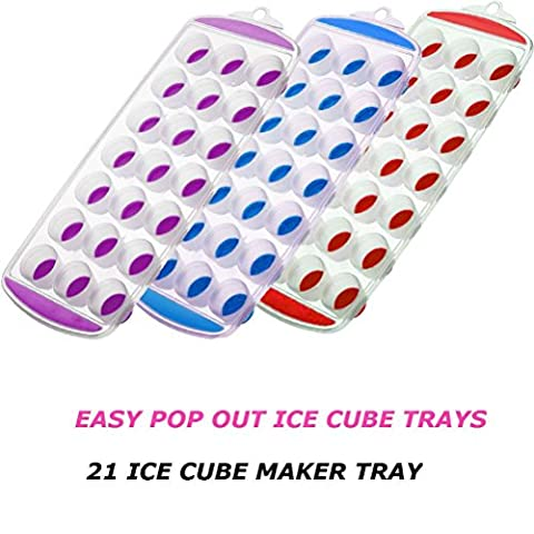 New Pop Out Non Stick Ice Cube Tray Soft Silicone Plastic 21 Ice Cube