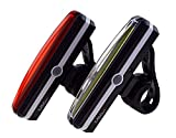 Led-Fahrradlichter-Set mit Akku, auch einzeln erhältlich / Ultrahelle Led-Fahrradlampe von MSGX, Led-Fahrradbeleuchtung mit 3 Leuchtstärken (+Blinkmodus), Extrem Helle Usb-Fahrradlampe für den täglichen Einsatz, Fahrradlicht-Kinder