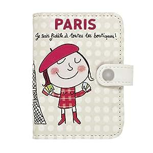 """Porte-cartes """"Eiffel Paris"""" - Beige - DLP"""