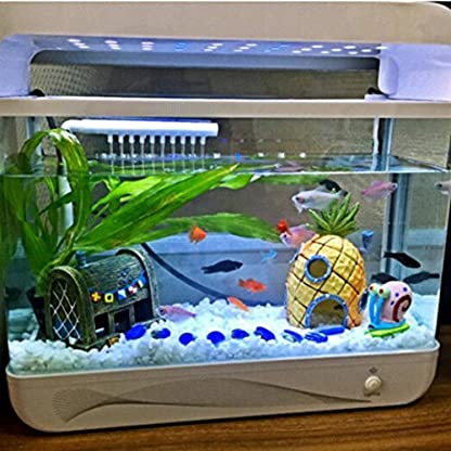 Oyedens Aquarium Ornaments Pineapple House for Fish Tank (Pineapple) 3