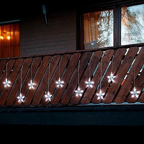 LED-Außenlichtervorhang Sternenglanz