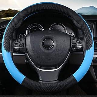 SCJ Auto-Lenkradabdeckung, Richtungshülse/SUV-Vierjahreszeiten-Universaltyp/Atmungsaktiver Schweiß/Rutschfestes Leder,#2