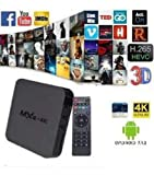 TSV MXQ 4k Ultra HD Smart Android TV Box for YouTube Hotstar Play Store Casting with 7.1 Android Version