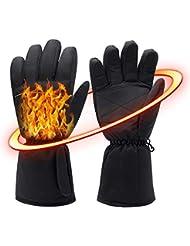Gants fantaisie chauffants électriques et mixtes - 6 piles AA - Pour les mains froides - Parfaits pour le snowboard, le pelletage, les boules de neige, la moto, l'escalade - 4,5V
