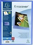 Exacompta 5722E - Kreacover - Protège-Documents 40 Vues - A4 - Bleu