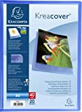 Exacompta - Réf 5722E - Un Porte Vues KREACOVER Personnalisable en Polypro Semi- Rigide 5/10ème 24x32 40 Vues Bleu