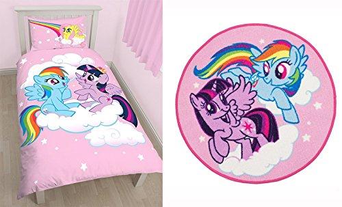 My Little Pony Equestria Polycotton-Set Bettwäsche Bettbezug und Teppich