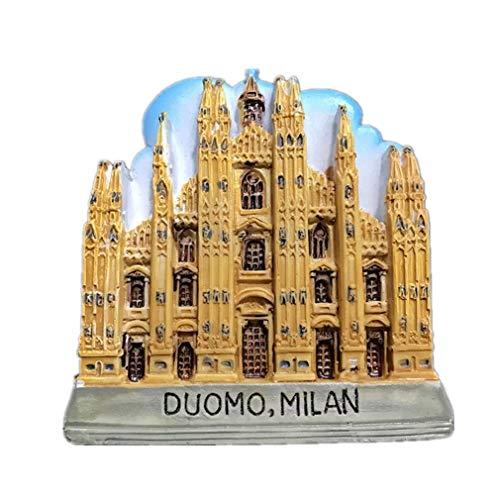 Bella Magnet Frigo Aimant Frigo Aimant Réfrigérateur Décor Voyage Vacances Souvenir de Italie Cathédrale de Milan Fridge Magnet Sticker