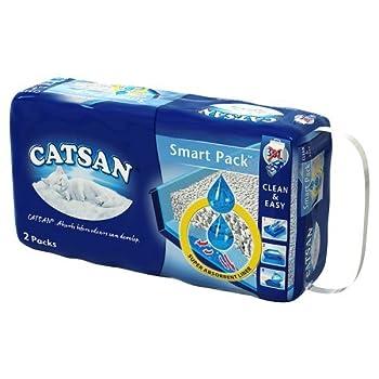 Catsan Smartpack - Litière et sac prêt à poser pour chat, 2 packs de 4L