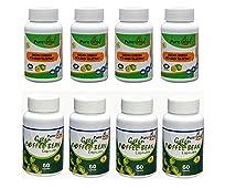 Purenaturalherb Fat Burner - Garcinia Cambogia With Green Tea Extract 70% HCA & Green Coffee Bean 70% GCA- 60 Capsules Weight Loss Supplement Combo (Pack of 8)