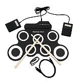USB E-Drum G3002 Drum Kit Schlagzeug Schlaginstrument Für Kinder Verdickt Silikon Faltbare Roll-up
