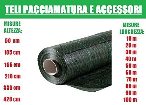 Toile de paillage quadrillée en tissu polypropylène indéchirable Vert 100 x 1,65 m