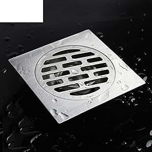 scarico a pavimento in acciaio inox/ dual-use lavatrice per drenare/Cucina e WC scarico a pavimento quadrati deodorante pest-A