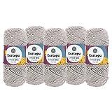 maDDma  5 x 100g Strickgarn Kartopu Cotton Mix Strickwolle Häkelgarn Sommergarn Farbwahl, Farbe:2199S Natur