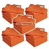 Price-Limit-Shop24 Microfaser Tücher Tuch Mikrofaser Poliertücher Premium Universal Orange 300g/m² 50 Stück