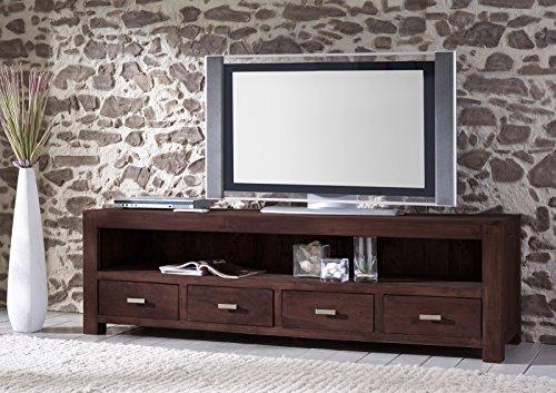 SAM® Longboard Timber 6647 aus Akazienholz, Sideboard tabakfarben, massiv, 4 Schubladen, 2 große Ablageflächen, viel Stauraum
