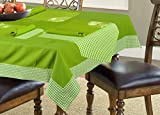 ELAN Green Mini Checks Mas Table Linen C...