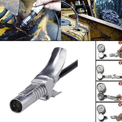 Hochdruckschmiernippel der Zange sichern - Kupplung mit Service/Wartungsset   Für Kegel-Schmiernippel   Leichtes An-und Ausziehen, Aufenthalte auf   Schmier geht in, nicht auf der Maschine (Silber)