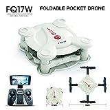 FQ777 FQ17W 6-Axe Gyro Mini Wifi Première Personne Vue Pliable G-Capteur Pocket Drone Avec 0.3MP Caméra Altitude Tenir RC Quad-Copter,White