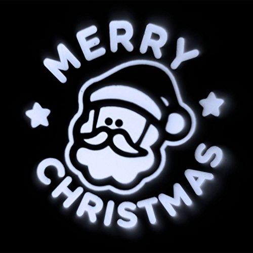 Proiettore babbo natale merry christmas, led bianco freddo, esterno
