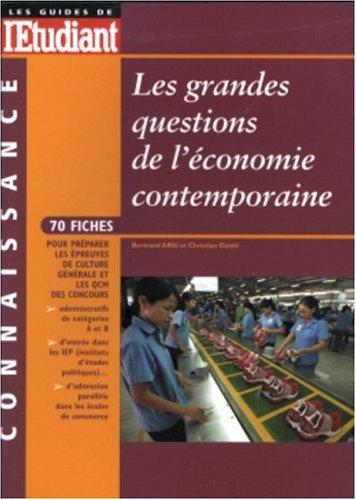 Les grandes question de l'économie contemporaine 2003