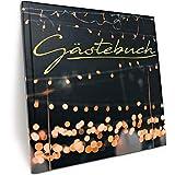 Gästebuch für Hochzeit Geburtstag Party - Hardcover mit 100 blanko Seiten in 200g/qm Stärke und hochwertiger Fadenbindung