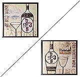 Vintage Wanduhr in zwei Varianten (Rotwein)