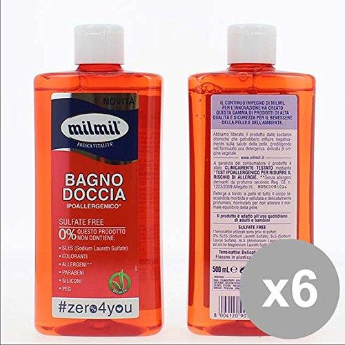 Set 6 MIL MIL 0 Bagnodoccia 500 Bagnoschiuma e saponi per il corpo