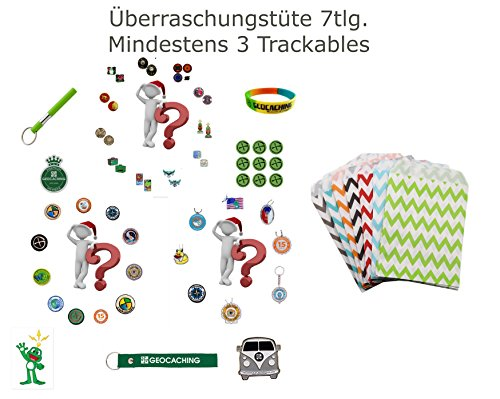 Coupon Matrix - 7 Piece Überraschungstüre Grabbag Reduced – Geocoin Trackable Travel Bug Sticker Grounds Peak Patch Gift Sale Reduced