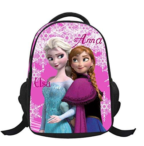 Missfox backpack school bag zaino frozen principesse anna e elsa e olaf zainetto ragazze c8